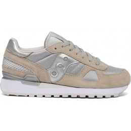 SAUCONY 1108/778 DONNA SHADOW ORIGINALS BEIGE/ARGENTO